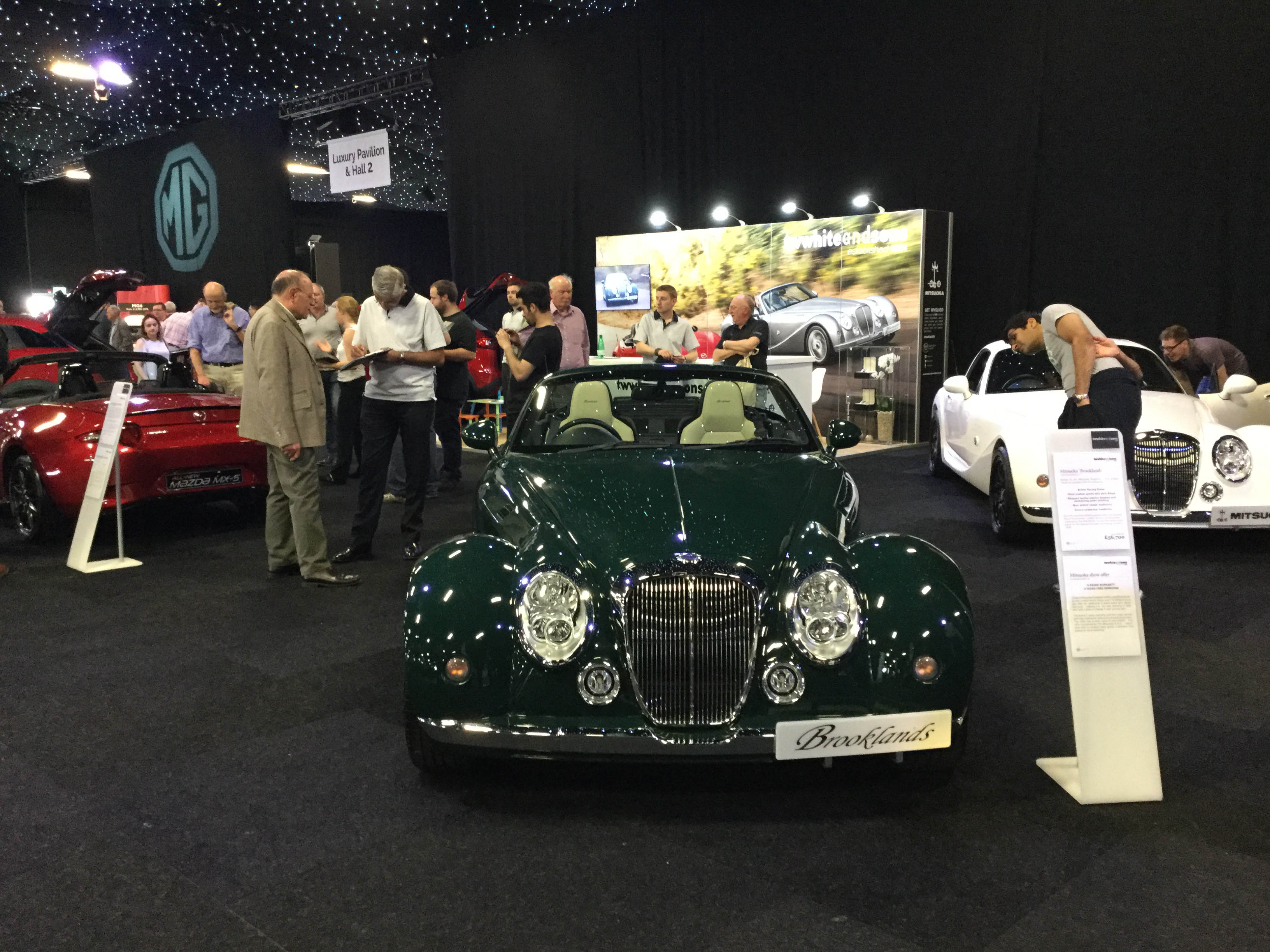 Mitsuoka Brooklands at the London Motor Show