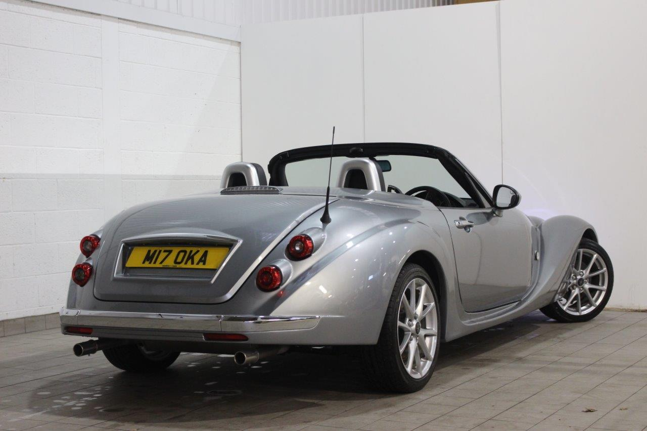 Mitsuoka roadster silver manual rear exterior