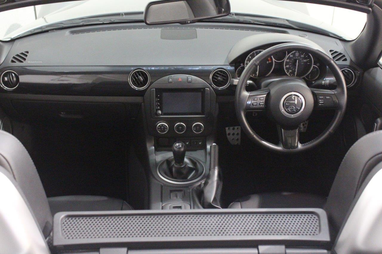 Mitsuoka Roadster silver manual interior