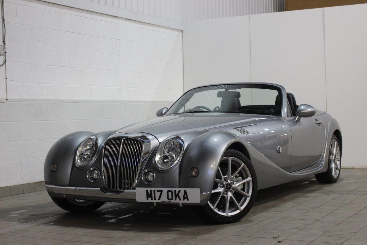 Mitsuoka roadster silver manual exterior front