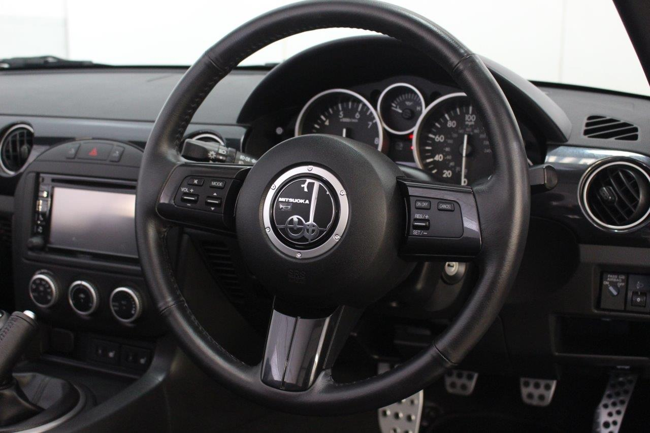 mitsuoka roadster interior steering wheel